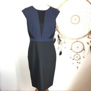 Antonia MELANI Color Block shift Dress